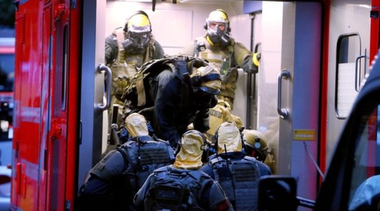 Agentes de policía alemanes.
