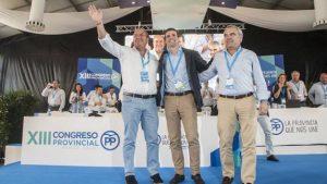 José Antonio Monago, Pablo Casado y Javier Fragoso.