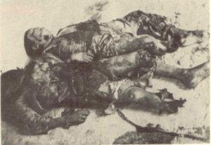 Víctimas del bombardeo