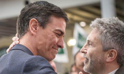 Pedro Sánchez con Fernando Grande Marlaska PSOE