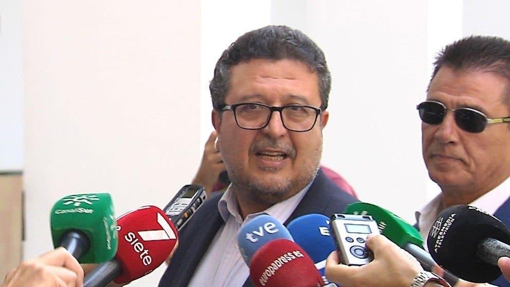 francisco serrano presidente del grupo parlamentario de vox en el parlamento andaluz. ep