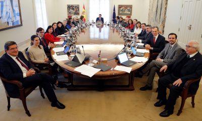 El presidente del Gobierno, Pedro Sánchez, en el primer Consejo de Ministros de la legislatura