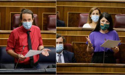 """Macarena Olona (Vox) a Pablo Iglesias: """"El cambio de versión de su concubina judicial, la señora Dina, exculpándole, ¿tiene algo que ver con el hecho de haberle montado un panfleto digital?"""""""