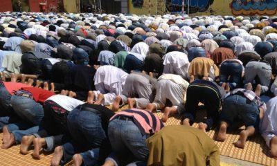 Musulmanes durante el Ramadán en Badalona, en una foto de archivo