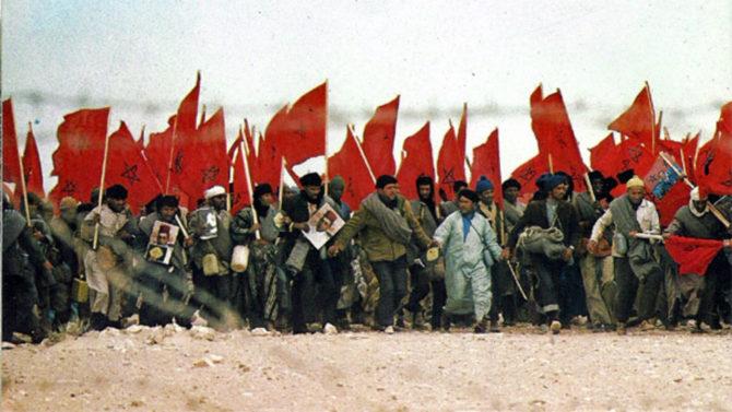 Imagen de la Marcha Verde, en 1975.