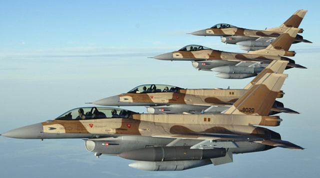 Cazas F-16 del ejercito Marroquí