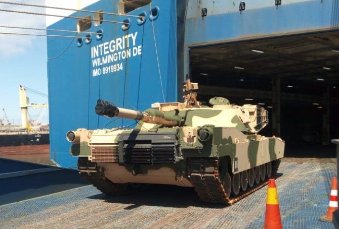 Carro de combate adquirido por Marruecos a Estados Unidos