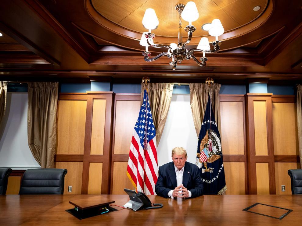 Donald Trump desde el hospital Walter Reed