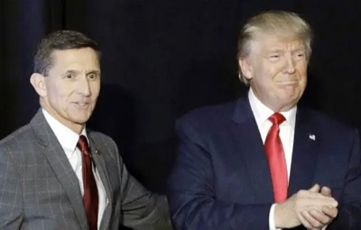 El general Michael Flynn y el presidente Donald Trump.