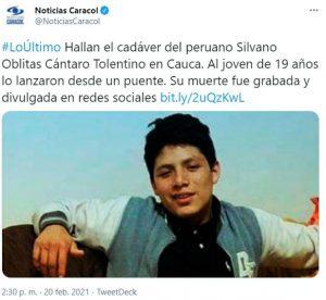 delincuentes venezolanos arrojan migrante peruano por puente colombia 5