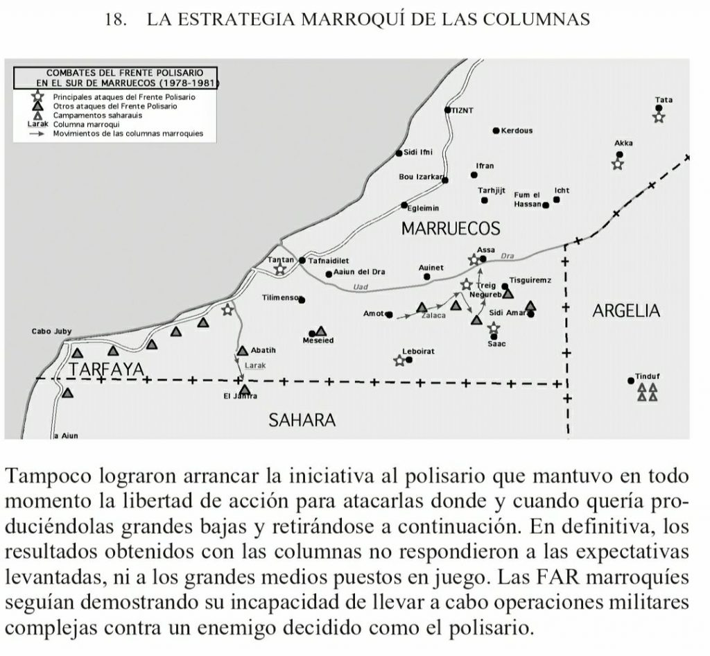 mapa conflicto sahara occidental estrategia columnas