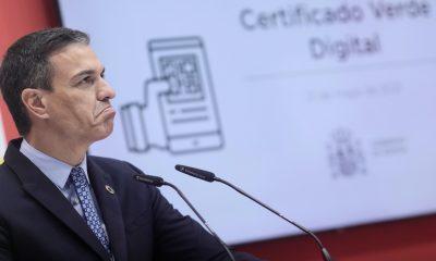 EuropaPress 3725523 presidente gobierno pedro sanchez interviene presentacion certificado verde 2