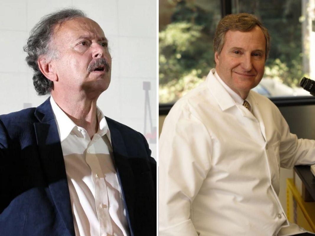 A la izquierda, el físico y doctorado en química Richard Muller. A la derecha el médico Steven Quay, CEO de la farmacéuticaAtossa Therapeutics, Inc. Autores del artículo citado.