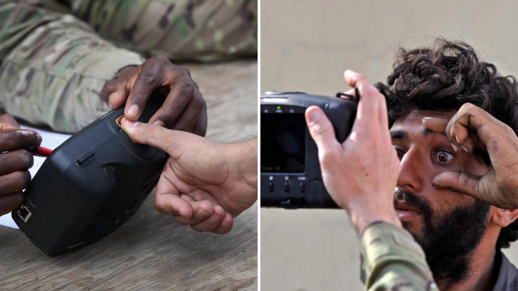 Por lo menos 7.000 equipos biométricos tenía el Ejército de Estados Unidos en Kabul.