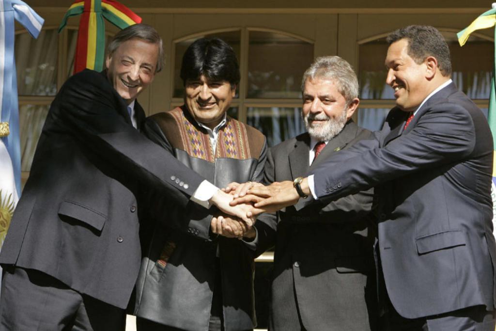 Néstor, Evo, Lula y Chávez, todos presidentes que llegaron al poder con el dinero del narco.