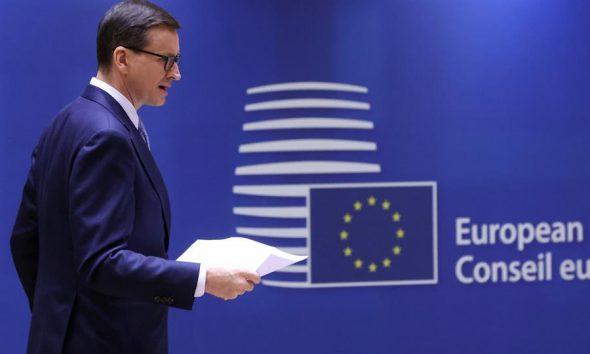El primer ministro de Polonia, Mateusz Morawiecki, dejó claro que no se dejará intimidar por la Unión Europea. (EFE)