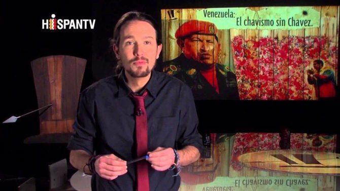Antes de su incursión en la política, Iglesias conducía un programa de televisión donde veneraba al chavismo.