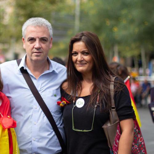 Antonio Amador y señora. Señora que también está -casualmente- en la cúpula de VOX BCN.